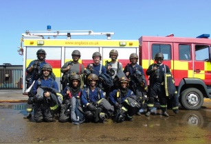 ENOC employess fire fighting training in London